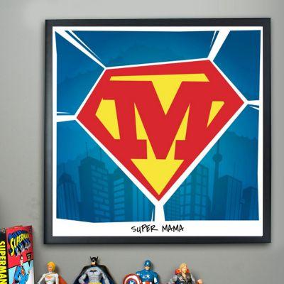 Cadeau personnalisé - Superman - Poster Personnalisable