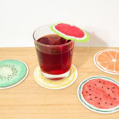 Produits exclusifs - Sous-verres Fruits - Set de 4