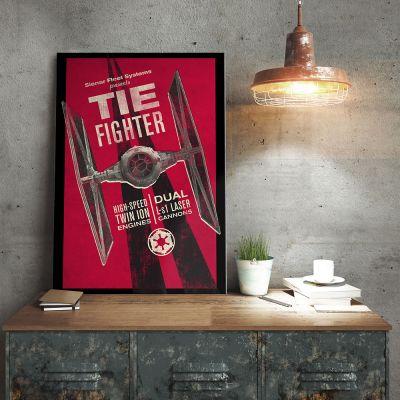 Poster - Poster Métallique Star Wars - Tie Fighter