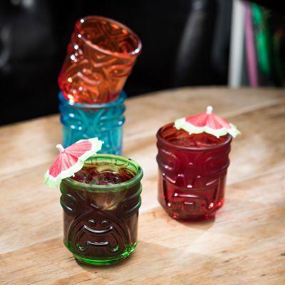Cadeaux rigolos - Verres à Cocktails Tiki – Set de 4