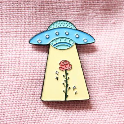 Vêtements & Accessoires - Pin's OVNI & Rose