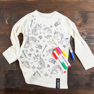 Vêtements & Accessoires - T-shirt Licorne à colorier