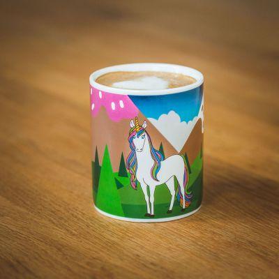 Verres & Mugs - Tasse Licorne thermosensible