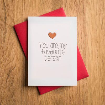 Cadeau pour son copain - Carte de Saint-Valentin - Tu Es Ma Personne Préférée