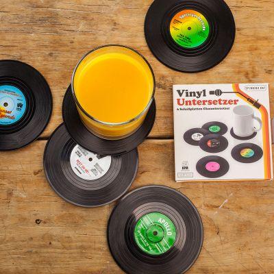 Idées cadeaux pour mettre dans le calendrier de l'avent - 6 sous-verres vinyle Look