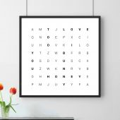 Pêle-mêle de mots - Affiche personnalisée