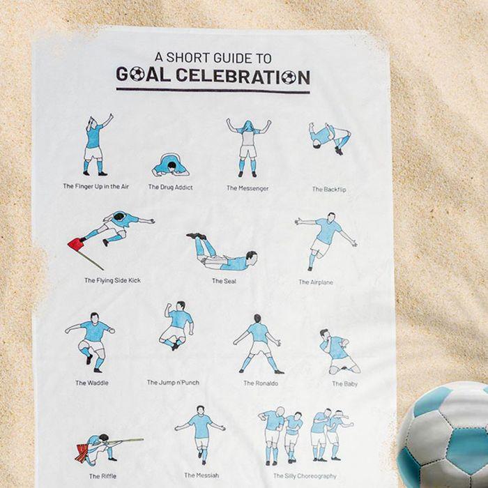 Serviette avec les célébrations de buts