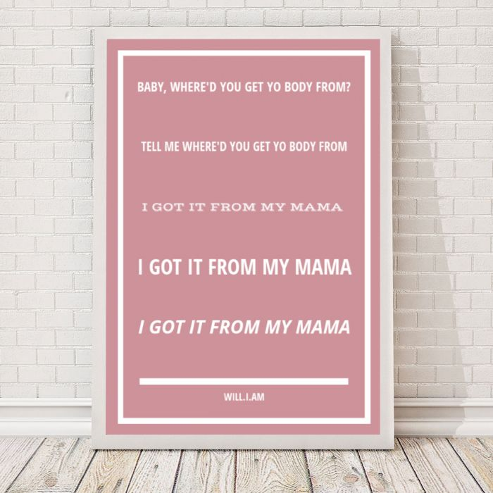Paroles de chanson - Poster personnalisable