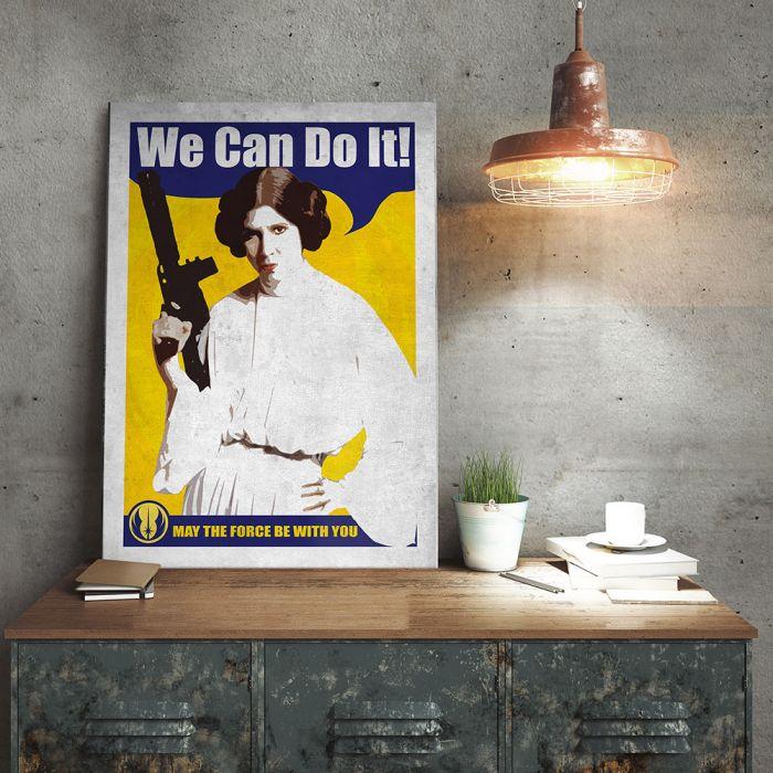 Poster Métallique Star Wars - Leia