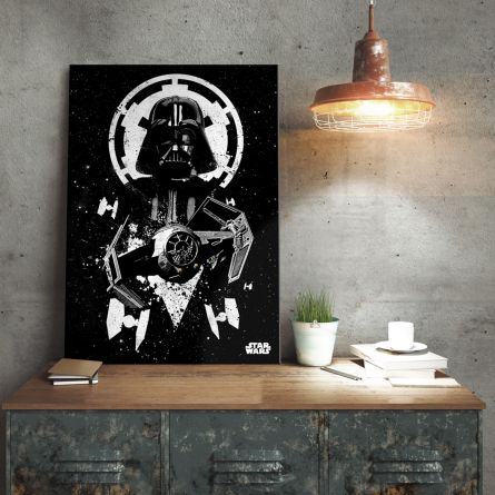 Poster métallique Star Wars – Tie Fighter Vador