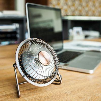 Ventilateur de bureau USB en Bronze