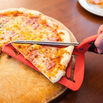 Ciseaux à pizza avec spatule