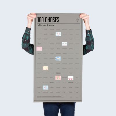 Cadeau 50 ans - Poster 100 choses, que vous devez faire avant de mourir
