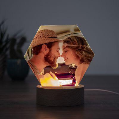 Cadeaux de Noël pour femme - Lampe LED avec photo