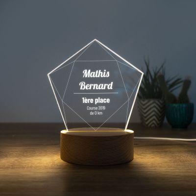 Cadeau gravé - Lampe LED avec Étoile