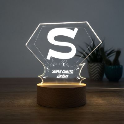 Cadeau Saint Valentin Homme - Lampe LED Superman