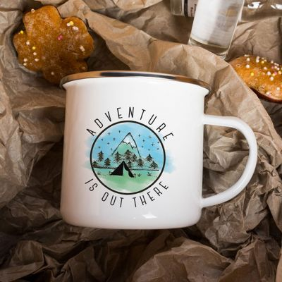 Outdoor - Tasse Métal Adventure Is Out There