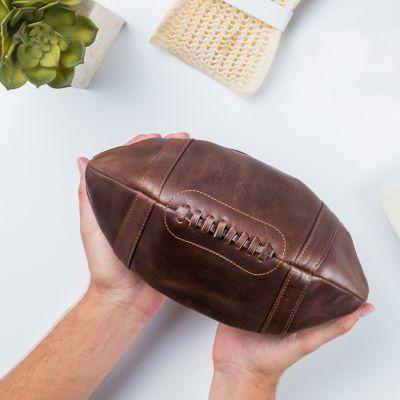 Cadeau de Noël pour homme - Trousse en cuir – Ballon de Football Américain