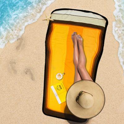 Accessoires de plage - Serviette de Plage Verre à Bière