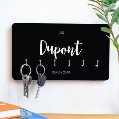 Cadeaux en bois personnalisés - Porte-clés personnalisable avec nom