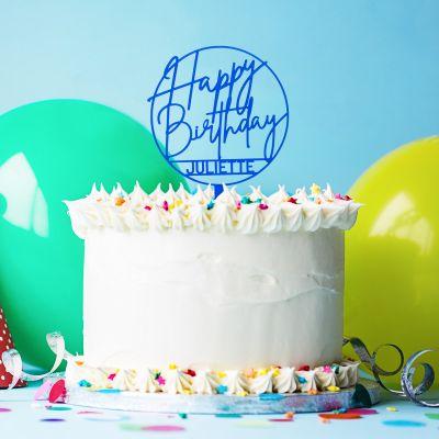 Produits exclusifs - Décoration Personnalisable pour Gâteau d'Anniversaire