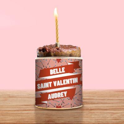 Cadeau Saint Valentin Homme - Cancake avec Texte