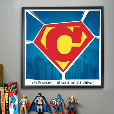 Cadeau bachelier - Superman - Poster Personnalisable