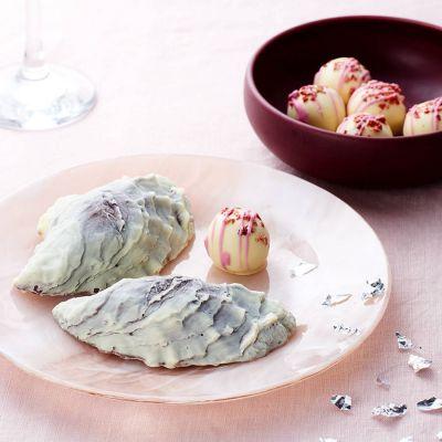 Bonbons - Huîtres au chocolat et perles au champagne