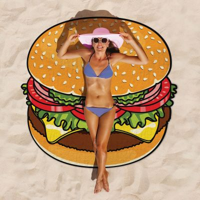 Cadeau frère - Serviette de plage Cheeseburger