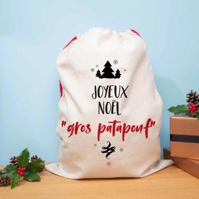 Cadeau couple - Hotte de Noël Personnalisable