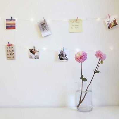 Cadeau couple - Guirlande LED Mini Pinces à linge