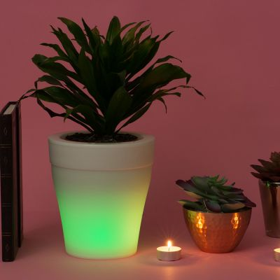 Gadgets pour la maison - Pot de Fleurs Lumineux qui change de couleurs