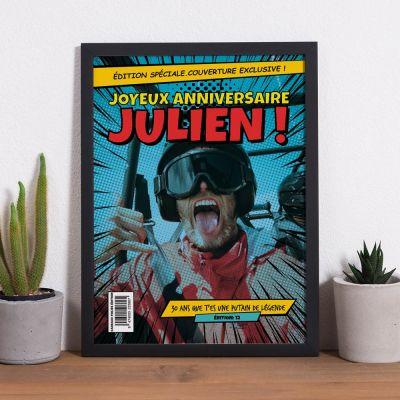 Cadeau Anniversaire Copain - Poster personnalisable avec texte et image façon BD