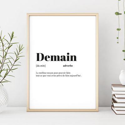 Cadeau anniversaire Femme - Poster Personnalisable Définition