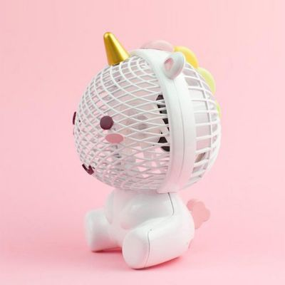 Cadeau anniversaire Femme - Ventilateur Élodie la Licorne avec USB