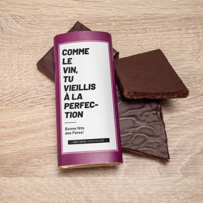 Petites douceurs exclusives - Chocolat au vin rouge personnalisable