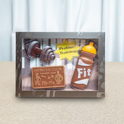 Plaisirs gustatifs - Coffret Fitness en Chocolat