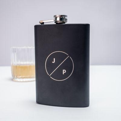 Cadeau gravé - Flasque personnalisable avec initiales