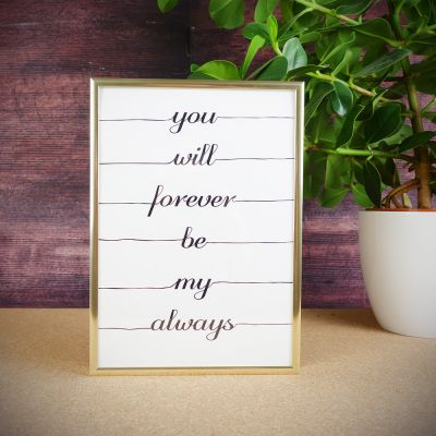 Cadeau anniversaire de mariage - Poster You Will Forever