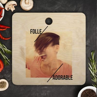 Cuisine & Barbecue - Planche à découper Personnalisable avec Texte et Photo