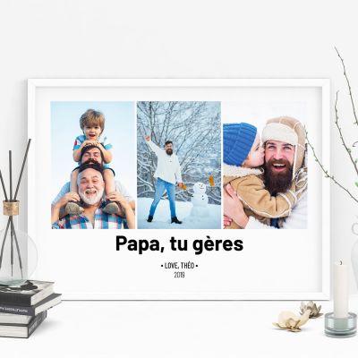Posters exclusifs - Poster avec 3 Photos et Texte
