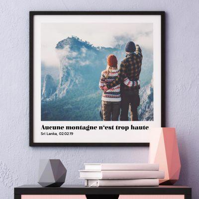 Produits exclusifs - Poster avec Photo et Texte