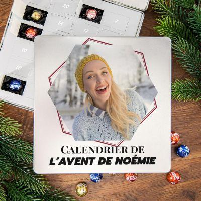 Petites douceurs exclusives - Calendrier de l'Avent - Boîte en métal Pralines avec photo et texte