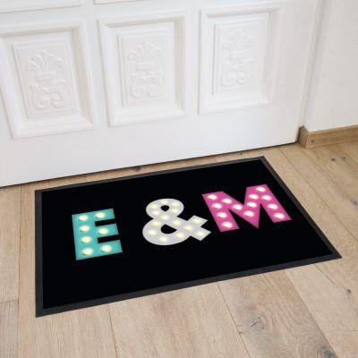 Décoration & Mobilier - Paillasson personnalisable avec initiales colorées