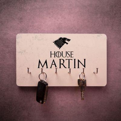 Cadeaux en bois personnalisés - Porte-clés personnalisable avec armoiries