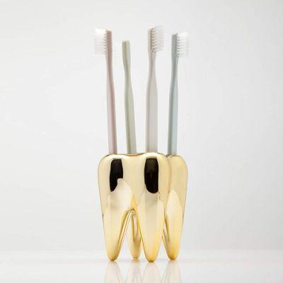 Salle de bains - Porte-brosses à dents - Dent en or