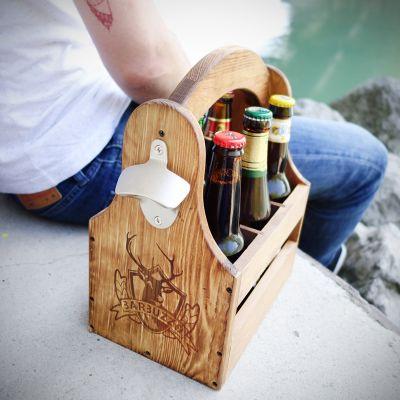 Cadeau autour de la bière - Caisse à bières Sixpack