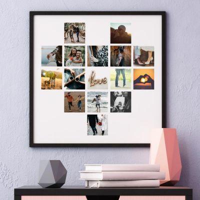 Posters - Poster Photo Personnalisable en forme de cœur