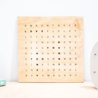 Cadeaux en bois personnalisés - Impression sur Bois Personnalisable - Pêle-Mêle de Mots