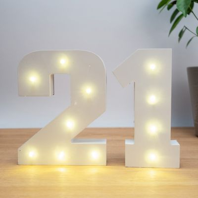 Numéros Lumineux en Bois